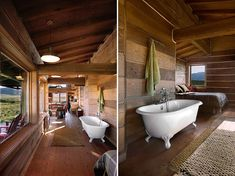 Located on over 3700 acres, of which 1960 are protected from development, this cabin in Spring Ranch, Idaho is the perfect place to get away from it all.