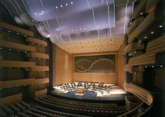 Overture Center- home of the Madison Symphony.been here many times with Bill. Notice the design of the organ pipes at the back of the stage.replicates the hills of our area. Overture, Selling Real Estate, Concert Hall, Capital City, Image Search, Tours, Mansions, Architecture, House Styles