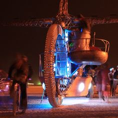 """Discovered by Mr. Voss, """"Giant bicycle. Burning man 2011."""" at Black Rock City NV Burning Man, Trego, NV"""