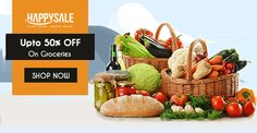 It's Time To Do Grocery Shopping! Get Upto 50% Off On Groceries. https://happysale.in/grocery/offers/ #SaveKaroHappyRaho