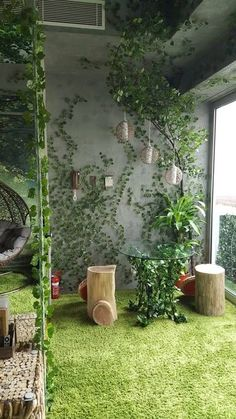 Forest-and-Heaven Themed Apartment Close to the Heart of the CBD - Flats for Rent in Melbourne, Victoria, Australia Bedroom Setup, Bedroom Themes, Bedroom Ideas, Dream Bedroom, Kids Bedroom, Enchanted Forest Bedroom, Woodland Bedroom, Forest Theme Bedrooms, Forest Classroom