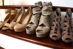 my favorite nude shoes! i scored the second to the right pair at marshalls for $60..almost half their original price!  http://homegrown-chic.blogspot.com/