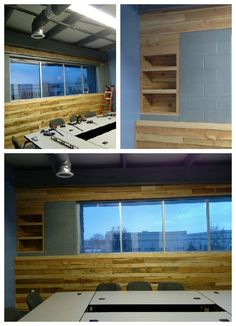 #Decoration, #PalletWall, #ReclaimedPallet