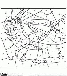 Colorear Tormenta, el dragón de Astrid para colorear por números