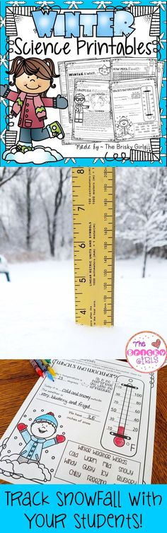 Snow Measurements, Temperature Readings, and MORE in this Winter Science Activity Pack!