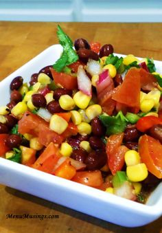 Black Bean and Corn Salsa - you can eat this as a side dish or a dip... I like mine with a big bag of tortilla chips!