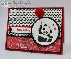 I used the Stampin' Up! Party Pandas stamp set from the upcoming 2018 Sale-a-bration Brochure to create my card for the Happy Inkin' Thursday Blog Hop today. We've got a sketch challenge this week…