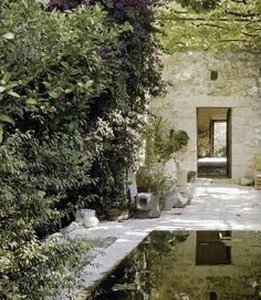 country garden, pool, outdoor room