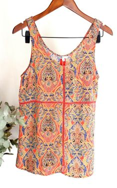03ff7a813b1 Details about VOLCOM Ladies - Size 8 - Sleeveless Patterned Boho Blouse Top