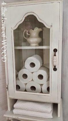 SHABBY CHIC BATHROOM CABINET - custom wood working Vintage Shelf, Vintage Wood, Diy Corner Shelf, Custom Bathroom Cabinets, Oak Table, Chic Bathrooms, Salvaged Wood, Custom Wood, Rustic Furniture