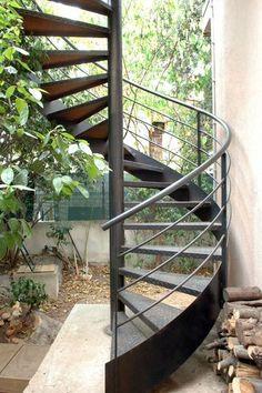 escalier d 39 ext rieur en colima on en acier escaliers d cors. Black Bedroom Furniture Sets. Home Design Ideas