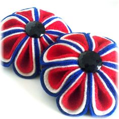 Red, white and blue brooch | @ The House of Beccaria