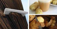 Tanto a polpa quanto a casca das batatas combatem a perda de cabelo e nos ajudam a estimular o crescimento, ao mesmo tempo em que dão brilho aos fios. Como usar o suco de batata para fazer o cabelo crescer  Entre todos os problemas de cabelo que afetam hoje homens e mulheres, a queda continua a o