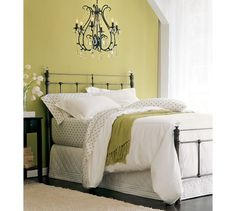 I want to do this for our room. Not too girly.. thinking about Danny as well  Claudia Bed | Pottery Barn
