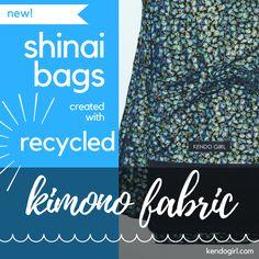 Super awesome #kimono fabric #shinaibag at kendogirl.com. #kendo #kendolove #kendogirl #martialarts #swordarts #kenshi #kendolife #iflkendo