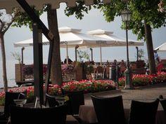 Om aftenen åbner Hotel Del Porto deres terrasse som ligger ude i kanten af Gardasøen. Lækker mad og god vin :-)