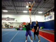 This girl has no fear...father daughter partner stunt