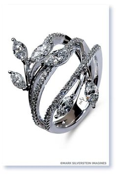 This vines and leaves engagement ring from Mark Silverstein Imagines is so captivating: http://www.stylemepretty.com/2014/11/01/30-of-our-most-coveted-engagement-rings/