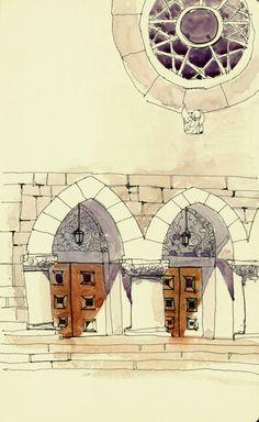 Two doors and a window | The Sketchbook, Shari Blaukopf