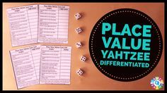 My kids love Place Value Yahtzee! Learn how to play this fun place value game and download your free Place Value Yahtzee score sheets. Great for grades 2-6!
