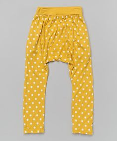 Love this Yellow Polka Dot Harem Pants - Infant, Toddler & Kids by Leighton Alexander on #zulily! #zulilyfinds