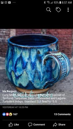 Hand Built Pottery, Slab Pottery, Glazes For Pottery, Pottery Mugs, Ceramic Pottery, Pottery Art, Ceramic Mugs, Ceramic Art, Stoneware
