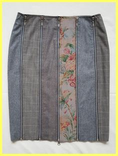 Plaid Floral Print Wool Zip Panel Pencil 42 Skirt. Free shipping and guaranteed authenticity on Plaid Floral Print Wool Zip Panel Pencil 42 SkirtExcellent Pre-owned Condition VDP Via Delle Perle ...