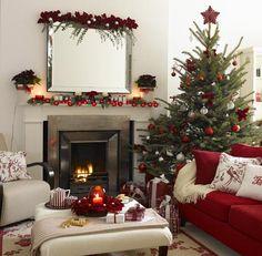 24 Fotos de salas decoradas para o Natal ~ Decoração e Ideias - casa e jardim