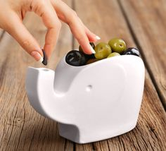 Elephant Snack Bowl - A sweet way to serve olives (including a trunk pit deposit).