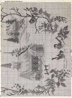 Xmas Cross Stitch, Cross Stitch Charts, Cross Stitching, Cross Stitch Embroidery, Wedding Cross Stitch Patterns, Modern Cross Stitch Patterns, Cross Stitch Designs, Cross Stitch Landscape, Cross Stitch Pictures