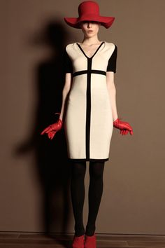 like the dress and gloves, trussardi fall 2011 rtw