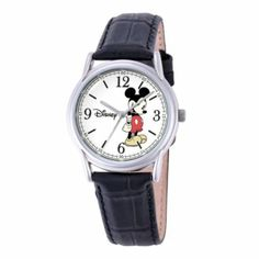 Disney Cardiff Womens Mickey Mouse Brown Leather Watch  found at @JCPenney