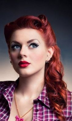 I have to figure out how to get my hair to do this! Pin Up Girl Hairstyles8 Best Medium Hairstyle Design 370x615 Pixel