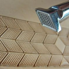 Stainless Steel Barry King - #3 Diamond Checkered Geometric Stamp (Leather Tool)