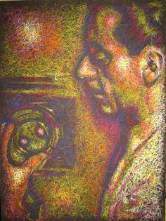 """""""MAN RAY""""  Pittura, Altro, MDF, 73 x 101 cm, 2007  contatti: studio.montanaro.mt@gmail.com tel.0835 312459  Studio Montanaro  vendita quadri realizzazione di serigrafie originali su tela, ritratti su commissione firmati Antonio Montanaro  leggi l'articolo on-line per conoscere l'artista : """"ARTE: Una sinfonia di colori. I lavori di Antonio Montanaro"""" ---> http://hubblog.it/2013/10/arte-una-sinfonia-di-colori-i-lavori-di-antonio-montanaro/"""