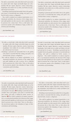 Variations on paragraph separation