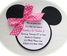 Minnie Mouse Invites!