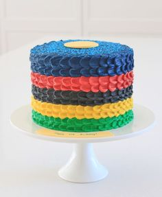 Olympic rings cake by Alison Lawson Cakes.