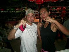 """Training Muay Thai with World Champion Noong Toom """"beautiful boxer"""" ,Thailand 2006"""