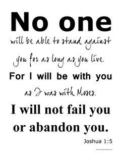 Joshua 1: 5 printable verse