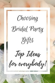 Is it necessary to give gifts to everyone in your bridal party? What is the tradition? Can you afford expensive gifts? Click through to my blog for great gift ideas.  #bridalparty #bridesmaid #flowergirl #motherofthegroom #motherofthebride #groomsmen #wedding