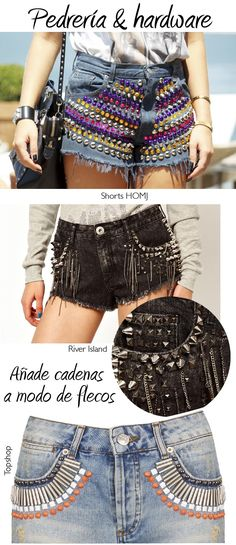 Dare to DIY: 20 ideas para personalizar tus shorts