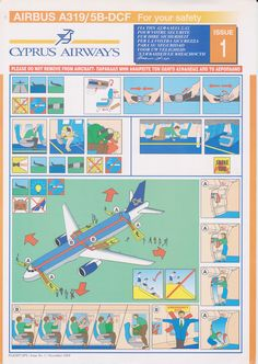 Safety Card  Cyprus Airways A319 (1) issue 1 november 2008