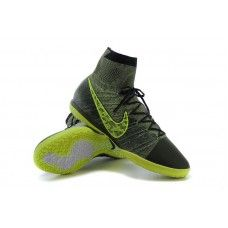 Nike Elastico Superfly IC Gris Negro Amarillo zapatos de fútbol baratos  Negro Amarillo 0221bc3bdfdd5