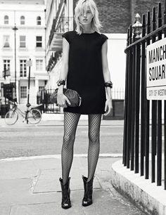 fall 2013 Miss Dior, Chanel meia arrastão tendência Mais