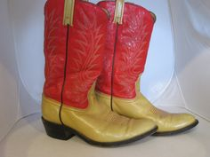 Vintage leather cowboy boots by hippiejo74 on Etsy