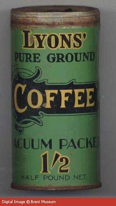 Lyons' Pure Ground Coffee tin
