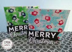 Christmas Stocking Cards by Sam Lewis AKA The Crippled Crafter. Spectrum Noir, Cardmaking, Watercolour, Christmas Stockings, Christmas Crafts, Merry, Cards, How To Make, Inspiration