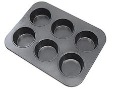American-Made EZ Baker Steel 6-Cup Muffin Pan Natural Baking Surface that Heats Evenly for Perfect Baking Results G /& S Metal Products Company 26T