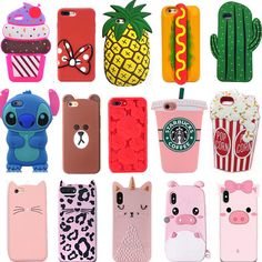 For iPhone New Hot Cute Cartoon Luxury Pop Soft Silicon Phone Case Cover Skin Animal Phone Cases, 3d Iphone Cases, Iphone 6, Apple Iphone, Cute Cases, Cute Phone Cases, Coque Ipod Touch 6, Ipod Touch Cases, Crochet Phone Cases